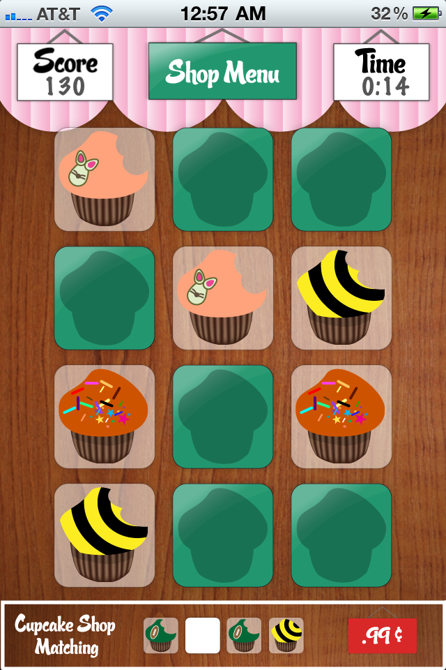 Screenshot Cupcakes Shop Matching Light