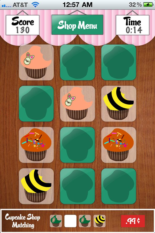 Screenshot Cupcakes Shop Matching Light