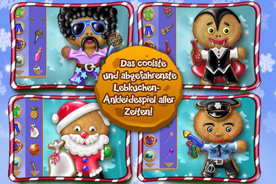 Screenshot Lebkuchenmann Ankleidespiel – Verzieren Sie Ihr Weihnachtsplätzchen